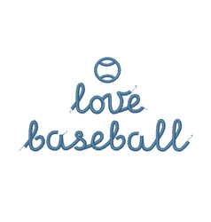 love baseball decoration vector image