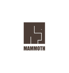 mammoth logo template modern cube flat design vector image