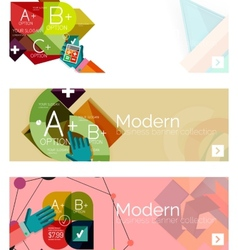 Modern flat design infographic banners vector image