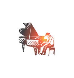 musician jazz piano performance music vector image