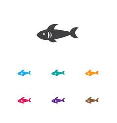 Of animal symbol on sea vector