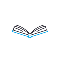open book thin line stroke icon open book vector image