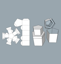 Packaging for gifts goods and food vector