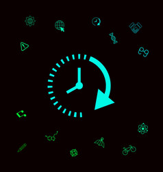 passage of time icon graphic elements for your vector image