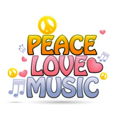 Peace love music vector