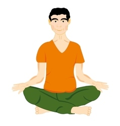 Persons in pose yoga vector