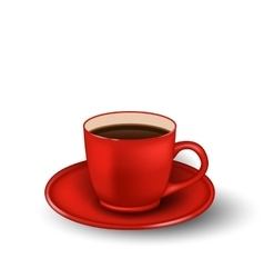 Photo Realistic Cup of Coffee Isolated vector