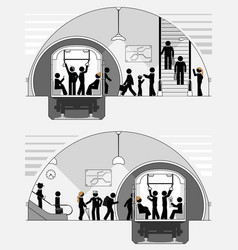 pictograph scene classic subway station vector image