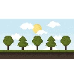 Pixel forest vector