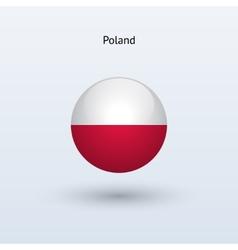 Poland round flag vector