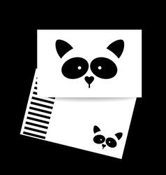 Raccoon animal template vector