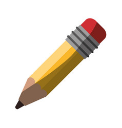 realistic colorful shading image of pencil with vector image