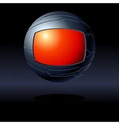 Red and black futuristic globe vector