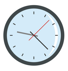 round analog clock face icon isolated vector image