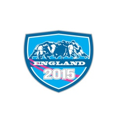 Rugby Scrum England 2015 Shield vector
