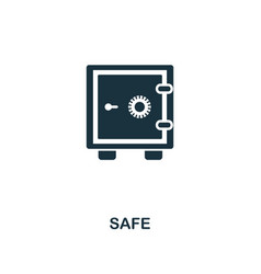 safe icon line style icon design from personal vector image