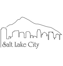 salt lake city one line drawing vector image