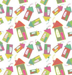 Seamless background of houses vector image