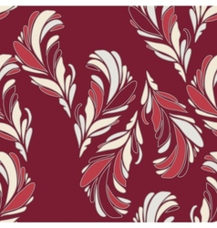 seamless floral pattern with flowers vector image