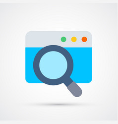 search trendy symbol trendy colored vector image