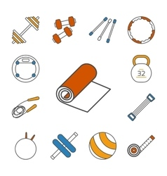 Set of isolated thin lined outlined icons for vector
