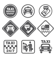 Simple Set of Taxi Related Icons vector image