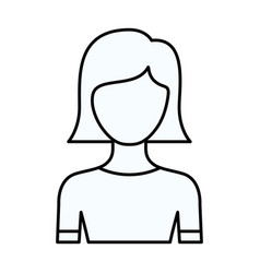 sketch silhouette of faceless half body young vector image