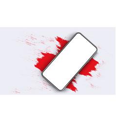smartphone blank screen phone mockup view vector image