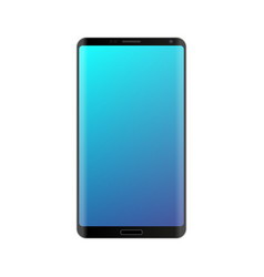Smartphone mockup with blue gradient screen vector