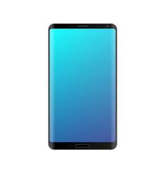 Smartphone mockup with blue gradient screen vector