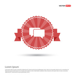 speech bubbles icon - red ribbon banner vector image
