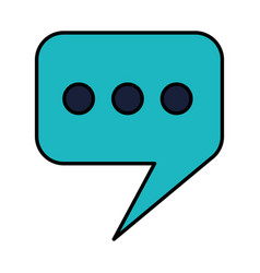 speeh bubble chat vector image