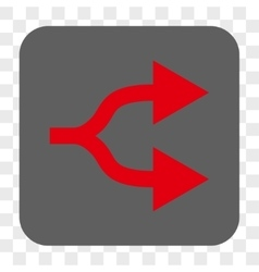 Split Arrows Right Rounded Square Button vector
