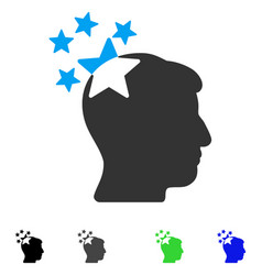 Stars hit head flat icon vector