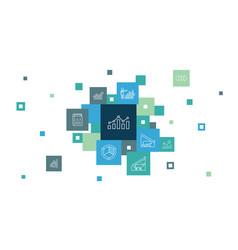 Stock market infographic 10 steps pixel design vector