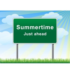 Summertime just ahead billboard vector