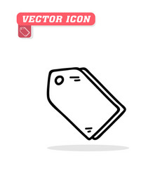 tag icon white background image vector image