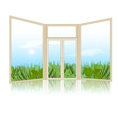 The background with the window shut vector image