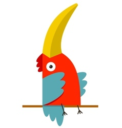 Toucan Bird with Big Beak Sitting vector image
