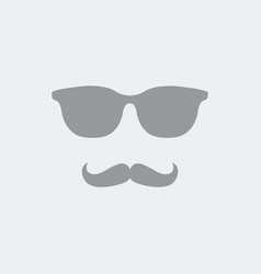 vintage sunglasses and mustache vector image