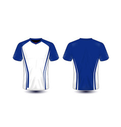 white and blue layout e-sport t-shirt design vector image