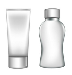 White plastic containers vector