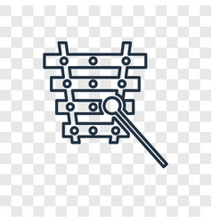 xylophone toy concept linear icon isolated on vector image