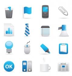 office icons indigo vector image