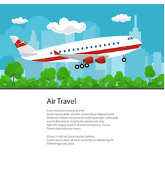poster airplane flies to the east vector image vector image