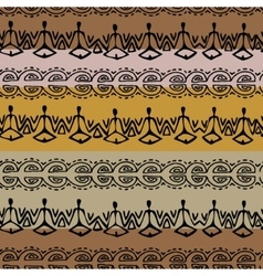 seamless black and brown ethnic pattern vector image