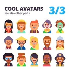 Set of flat avatars Part 3 See also other parts vector image