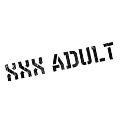 Xxx adult rubber stamp vector
