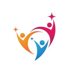 Adoption Care Logo vector image vector image