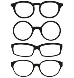 cartoon icon poster glasses spectacles silhouette vector image vector image